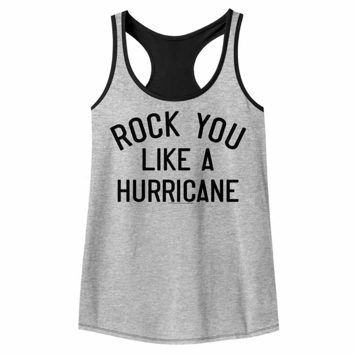 SCORPIONSIKE A HURRICANE-GRAY HEATHER/BLACK LADIES - COLOR BLOCK RACERBACK