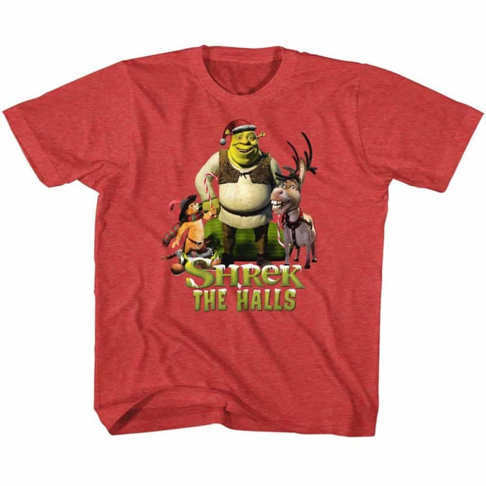 SHREK-HOLIDAY GROUP-VINTAGE RED TODDLER S/S TSHIRT