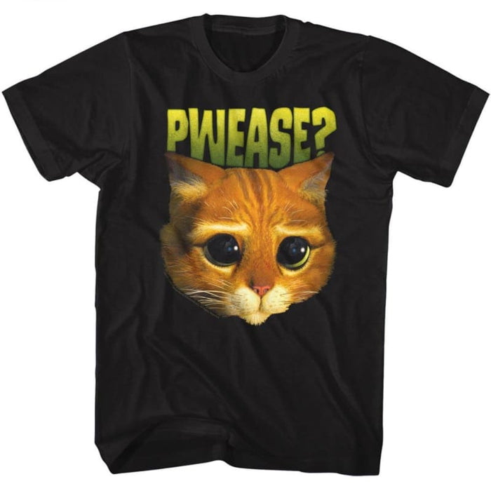 SHREK-PWEASE-BLACK ADULT S/S TSHIRT