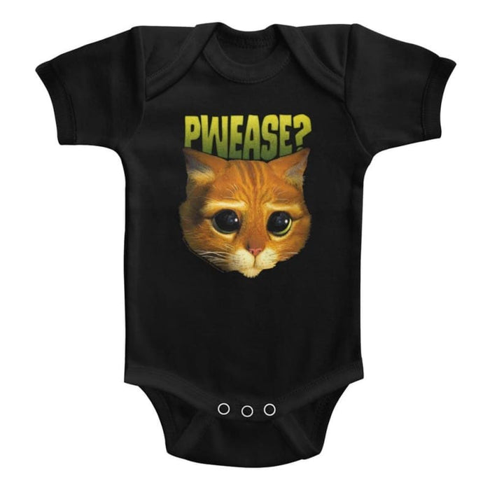 SHREK-PWEASE-BLACK INFANT S/S BODYSUIT