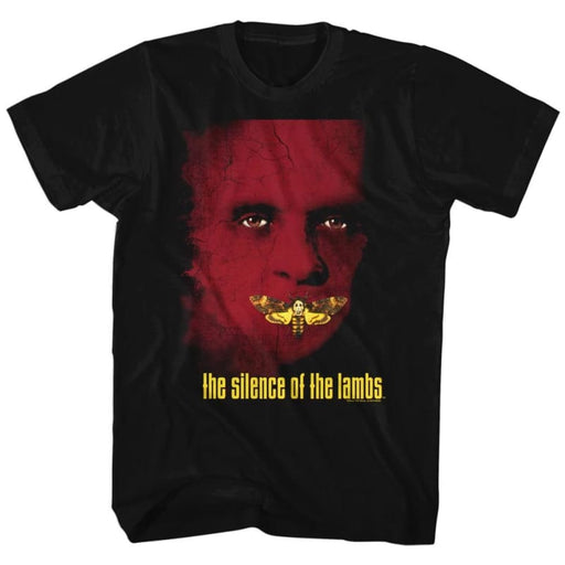 SILENCE OF THE LAMBS-POSTER-BLACK ADULT S/S TSHIRT