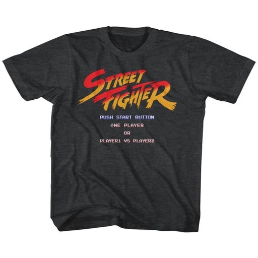 STREET FIGHTERTART SCREEN-BLACK HEATHER YOUTH S/S TSHIRT