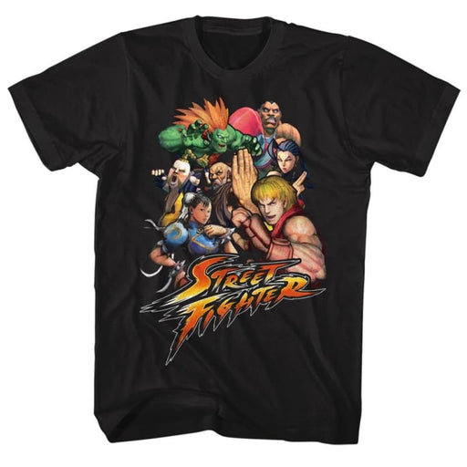 STREET FIGHTERTFTR-BLACK ADULT S/S TSHIRT