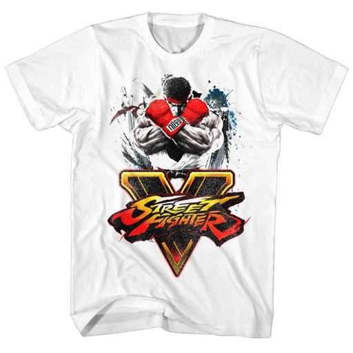 STREET FIGHTERTREETFIGHTA-WHITE ADULT S/S TSHIRT