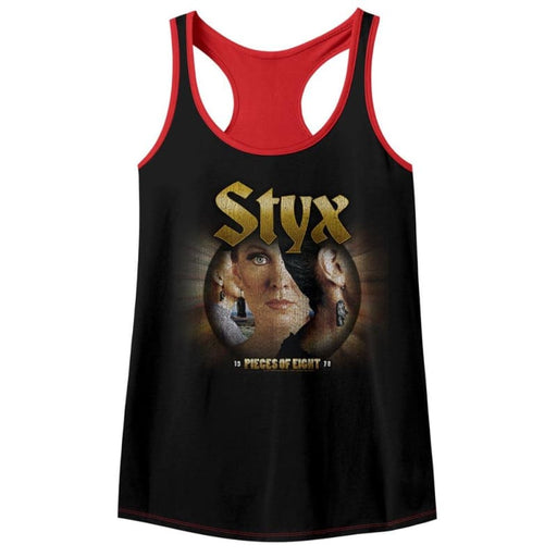 STYX-PIECES OF EIGHT-BLACK/RED LADIES - COLOR BLOCK RACERBACK