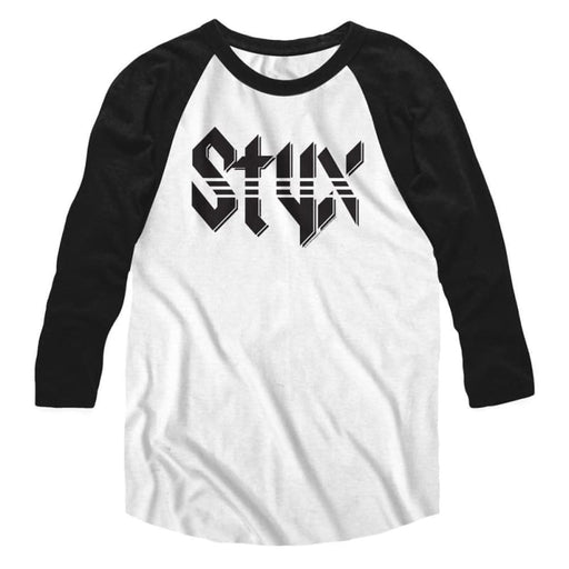 STYXTYX-WHITE/BLACK ADULT 3/4 SLEEVE RAGLAN