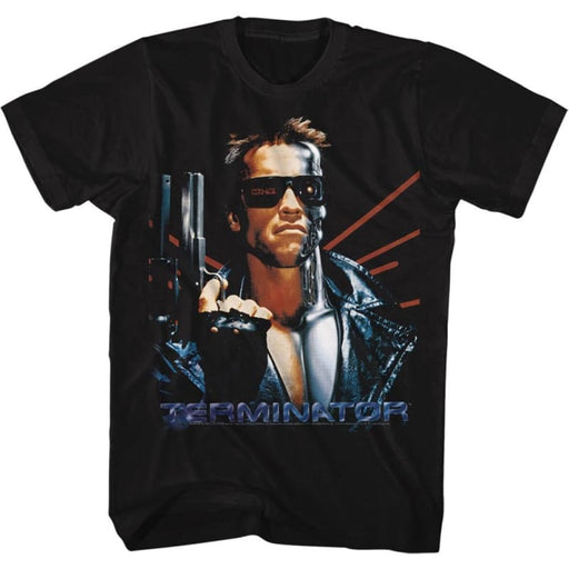 TERMINATORASER BACK-BLACK ADULT S/S TSHIRT