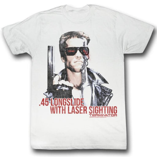 TERMINATORASER SIGHTING-WHITE ADULT S/S TSHIRT