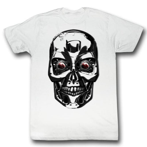 TERMINATORTINK FACE-WHITE ADULT S/S TSHIRT
