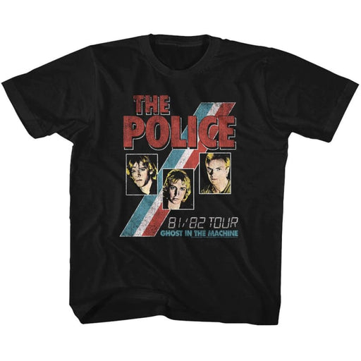 THE POLICE-GHOST IN THE MACHINE-BLACK YOUTH S/S TSHIRT