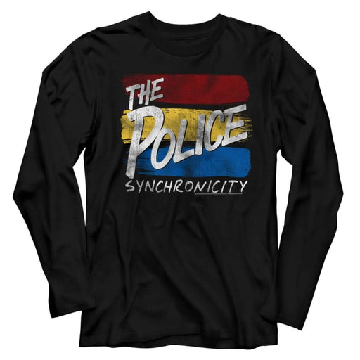THE POLICEYNC INVERTED-BLACK ADULT L/S TSHIRT