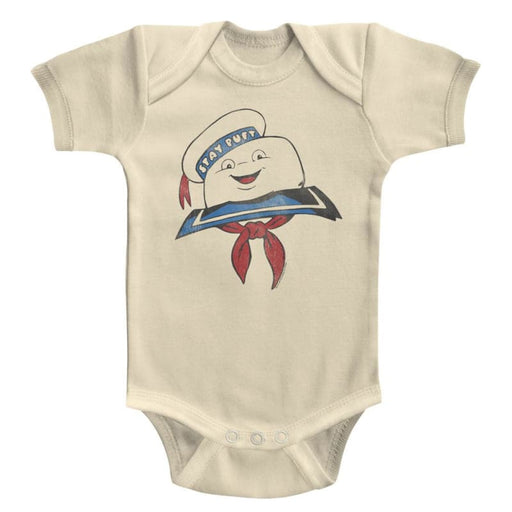 THE REAL GHOSTBUSTERSTAY PUFT HEAD-NATURAL INFANT S/S BODYSUIT