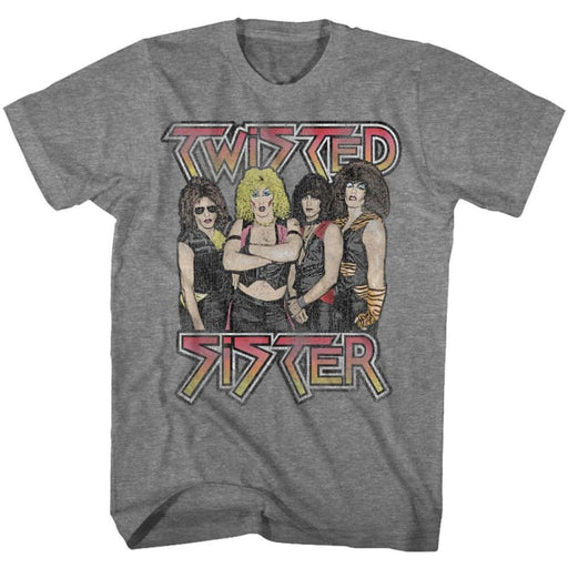 TWISTED SISTER-TWISTED SISTER-GRAPHITE HEATHER ADULT S/S TSHIRT