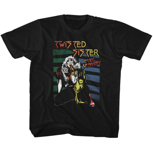 TWISTED SISTERTAY HUNGRY-BLACK YOUTH S/S TSHIRT