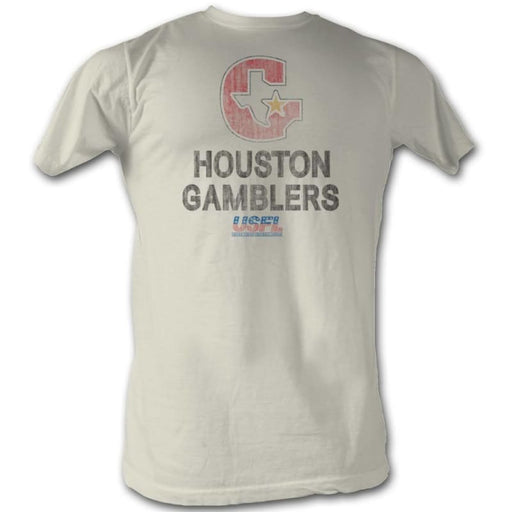 USFL-HOUSTON-NATURAL ADULT S/S TSHIRT