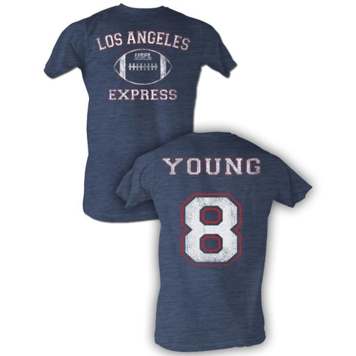 USFL-YOUNG-NAVY HEATHER ADULT S/S TSHIRT ***F&B***