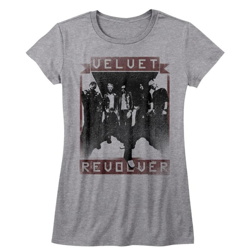 VELVET REVOLVER-VELVET R-GRAY HEATHER JUNIORS S/S TSHIRT
