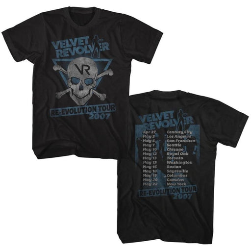 VELVET REVOLVER-RE-EVOLUTION TOUR 07-BLACK ADULT S/S TSHIRT ***F&B***