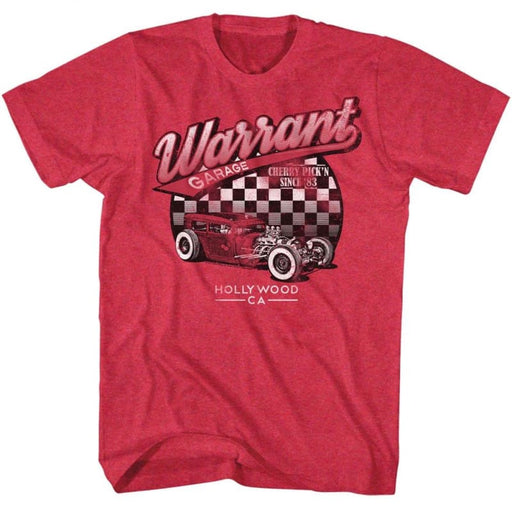 WARRANT-WARRANT GARAGE-CHERRY HEATHER ADULT S/S TSHIRT