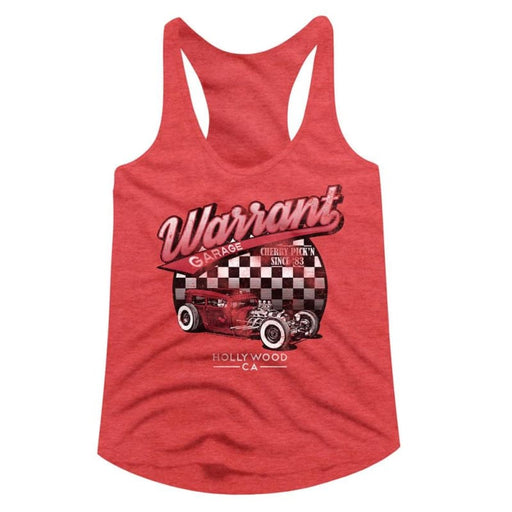 WARRANT-WARRANT GARAGE-RED HEATHER LADIES RACERBACK