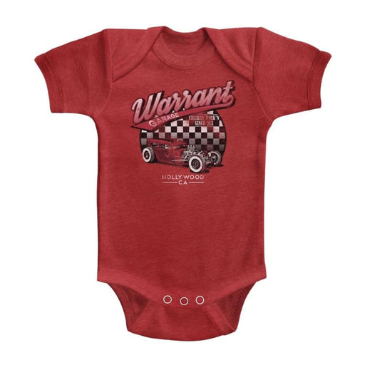 WARRANT-WARRANT GARAGE-VINTAGE RED INFANT S/S HEATHER BODYSUIT