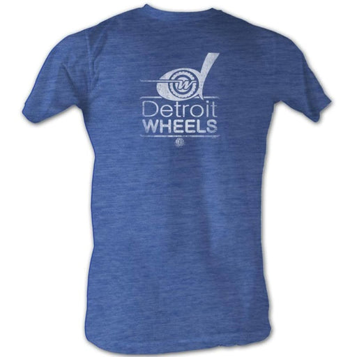 WFL-WHEELS WHITE-ROYAL HEATHER ADULT S/S TSHIRT