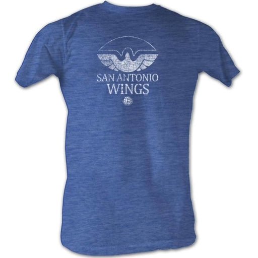 WFL-WINGS WHITE-ROYAL HEATHER ADULT S/S TSHIRT