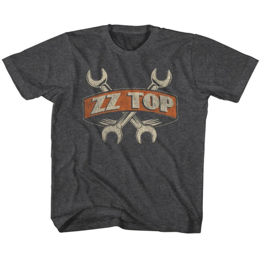 ZZ TOP-WRENCHES-BLACK HEATHER YOUTH S/S TSHIRT