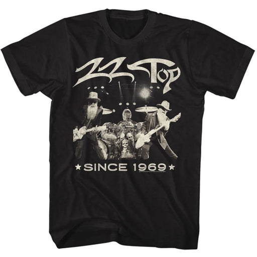 ZZ TOPINCE 1969-BLACK ADULT S/S TSHIRT