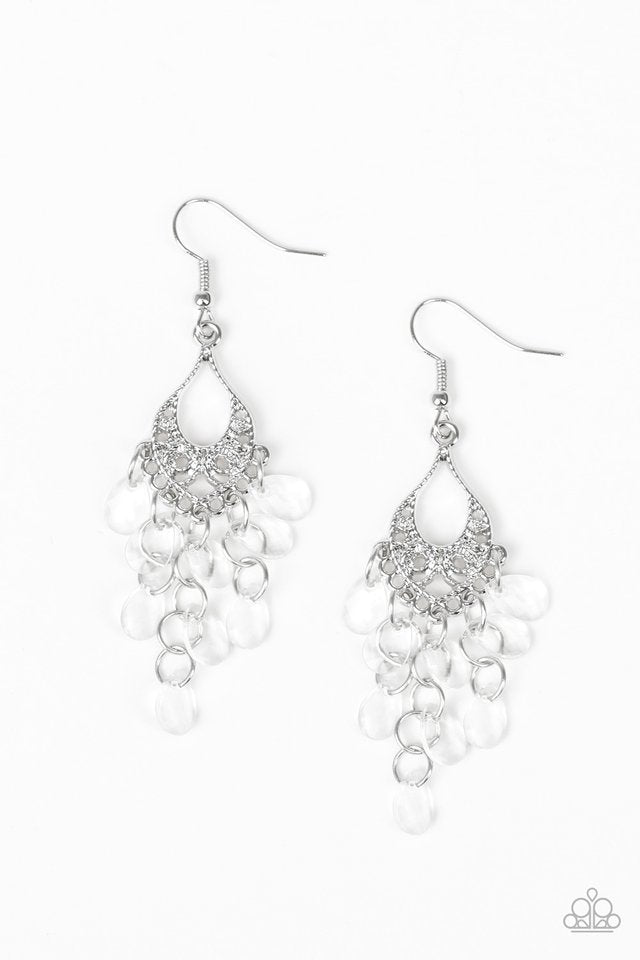 Paparazzi Earring ~ What Happens In Maui - White