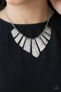 Paparazzi Necklace ~ Texture Tigress - Silver