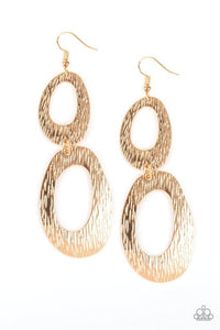 Paparazzi Earring ~ Ive SHEEN It All - Gold