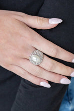 Load image into Gallery viewer, Paparazzi Ring - Glittering Go-Getter - White