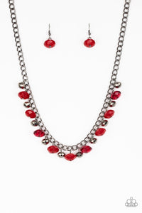 Paparazzi Necklace ~ Runway Rebel - Red