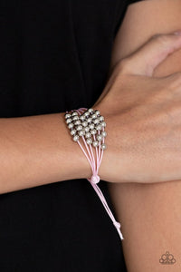Paparazzi Bracelet ~ Without Skipping A BEAD - Pink