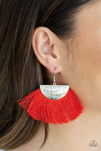 Load image into Gallery viewer, Paparazzi Earring ~ Fox Trap - Red