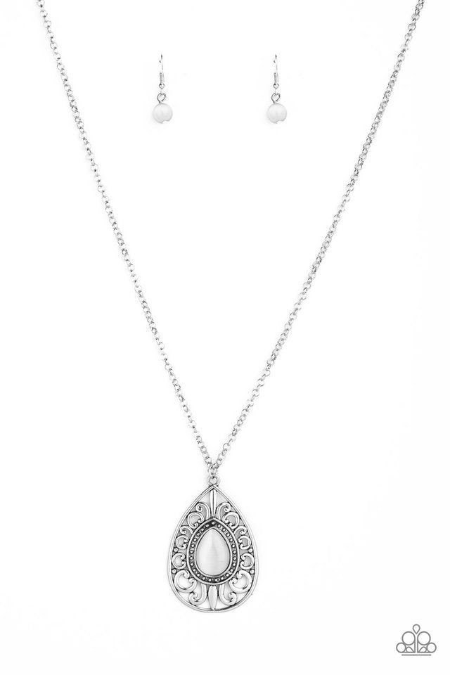 Paparazzi Necklace ~ Modern Majesty - White