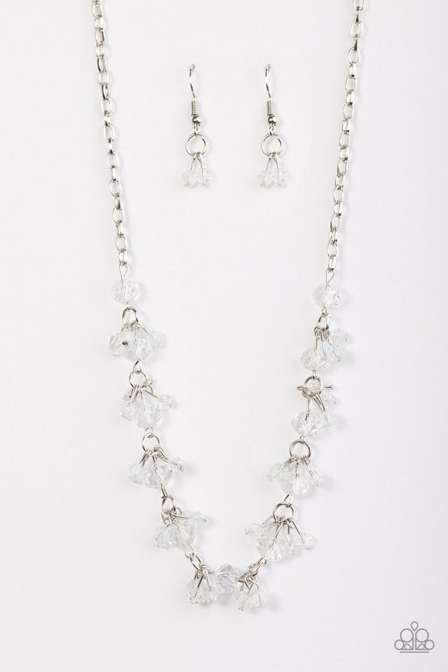 Paparazzi Necklace - Leading STARLIGHT - White