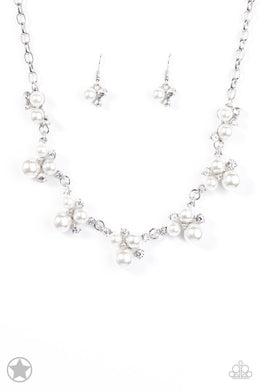 Paparazzi Blockbuster Necklace - Toast to Perfection - White