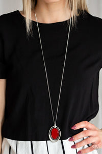 Paparazzi Necklace ~ Metro Must-Have - Red