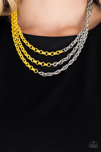 Paparazzi Necklace ~ Turn Up The Volume - Yellow