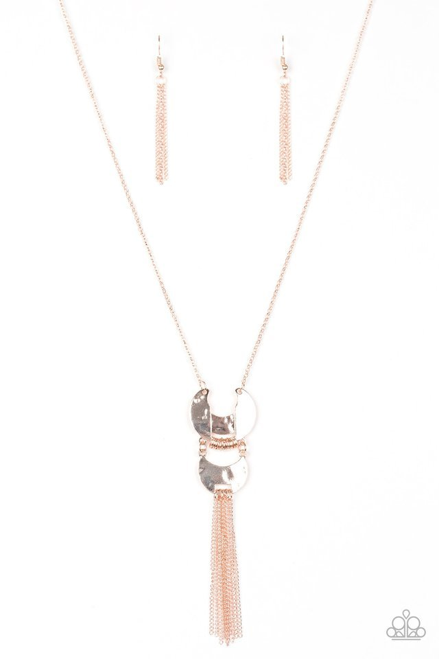 Paparazzi Necklace - Lunar Legend - Rose Gold