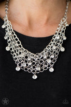 Load image into Gallery viewer, Paparazzi Blockbuster Necklace - Fishing for Compliments - Silver/White