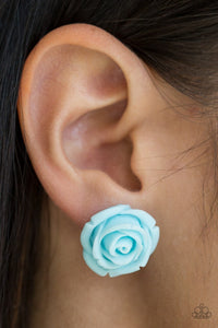 Paparazzi Earring ~ Rose Roulette - Blue