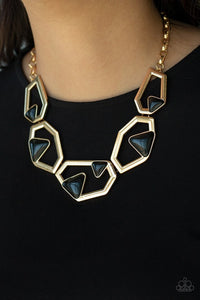 Paparazzi Necklace ~ GEO-ing, GEO-ing, Gone - Gold