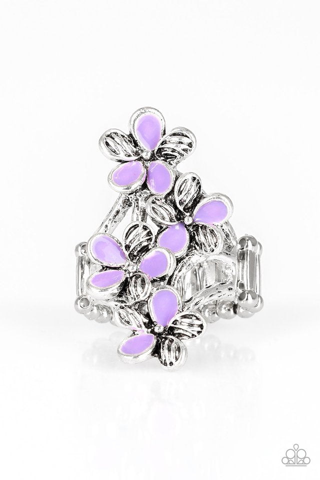 Paparazzi Ring ~ Climbing Gardens - Purple