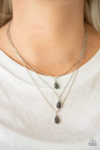 Paparazzi Necklace ~ Radiant Rainfall - Silver