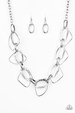 Paparazzi Necklace ~ Very Avant-Garde - Silver