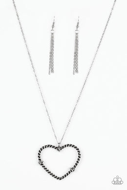 Paparazzi Necklace ~ Straight From The Heart - Silver