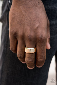Men's Paparazzi Ring ~ Checkmate - Gold